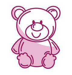 Bear teddy isolated icon vector