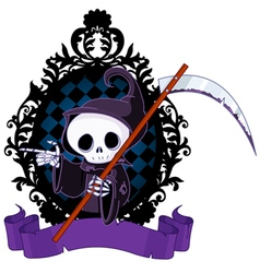 Cartoon Grim Reaper Pointing vector image vector image