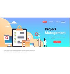checklist clipboard survey project management vector image