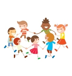 Children round dancing Party dance in baby club vector image