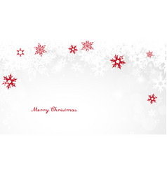 Christmas light background with white and red vector
