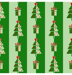Christmas trees and gifts vector