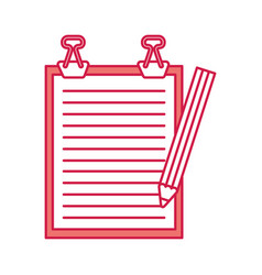 clipboard paper with pencil vector image