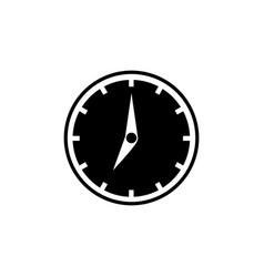 clock icon black filled icon white clock arrows vector image