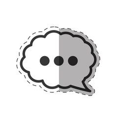 Cloud speech communication icon vector