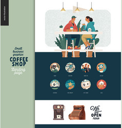 Coffee shop - small business graphics - landing vector