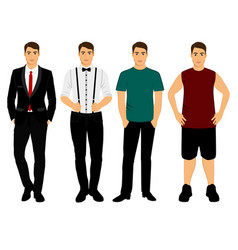 Collection men s clothing vector
