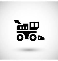 Combine harvester icon vector image