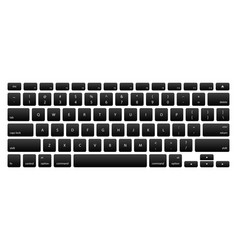 Computer keyboard with black key buttons vector