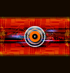 Cyber digital technology concept vector