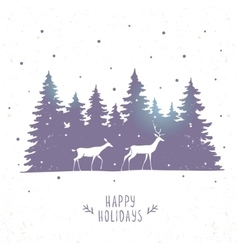 deers in forest vector image