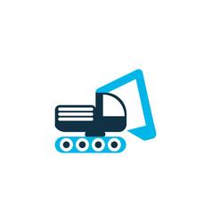 digger vehicle icon colored symbol premium vector image
