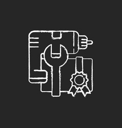 diy workshop chalk white icon on black background vector image