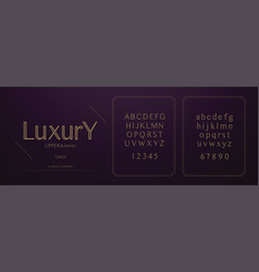 elegant luxury alphabet letters font set wedding vector image