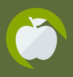 Flat modern design with shadow apple vector