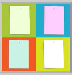 Four different paper notes vector