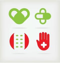 Four logo for pharmacy vector