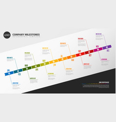 full year timeline template vector image