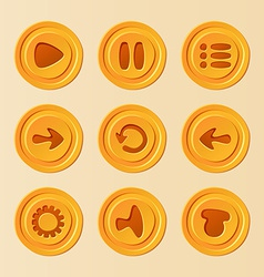 game ui - set buttons for mobile game or app vector image