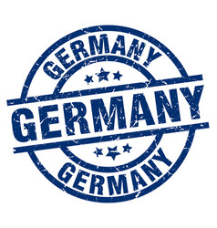 germany blue round grunge stamp vector image