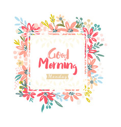 Good morning monday vector
