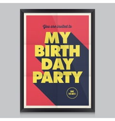 Happy birthday poster card vector image