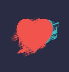 Heart from brush strokes vector