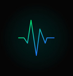 heartbeat blue concept line icon or design vector image