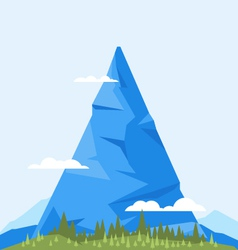 High Mountain Flat vector image