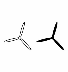 Isolated propellers vector