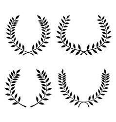 laurel wreaths 3 vector image