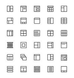 Layout Line Icons 2 vector image