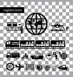 Logistics export icon set vector