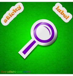 Magnifier glass zoom search icon sign Symbol chic vector