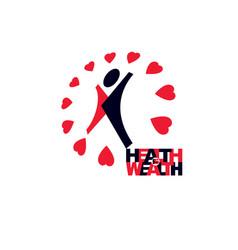 medical rehabilitation abstract logotype symbol vector image