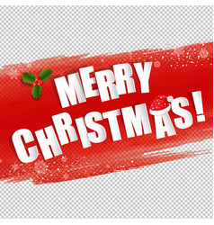 merry christmas poster with snowflake vector image