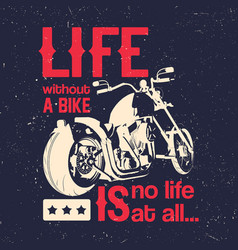 motorcycle creative poster vector image