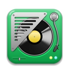 Music app icon vector image