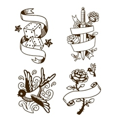 Old vintage tattoo vector