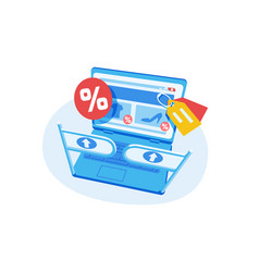 online shopping sale vector image