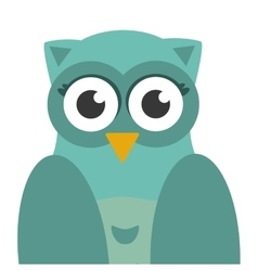 Owl bird icon flat vector