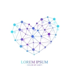 Premium Heart Logotype Colorful Template vector