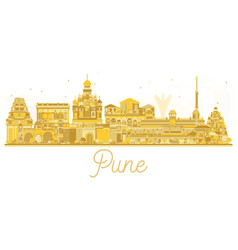 Pune skyline golden silhouette vector