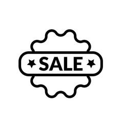 sale stick icon vector image