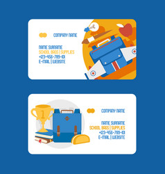 School business card education schooling vector
