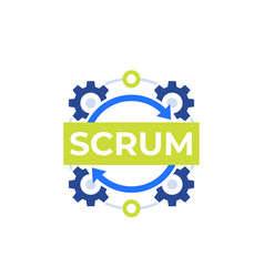 Scrum process development methodology icon vector