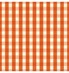 seamless pattern orange and white tablecloth vector image