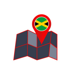Simple jamaica map pins are isolated with country vector