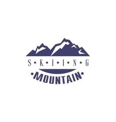 Skiing Mountain Emblem Design vector image
