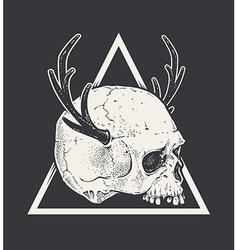 Skull with Horns vector